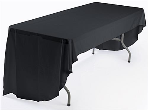 Custom pipe and drape booth kit with black table cover