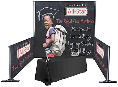 Custom pipe and drape booth kit with large format graphics