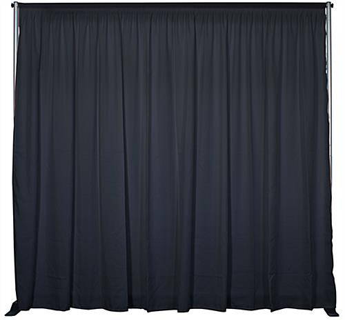 Economy exhibit booth furniture kit with black pipe & drape