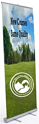 "Pop up banner trade show kit with 33"" x 78"" retractable signage"