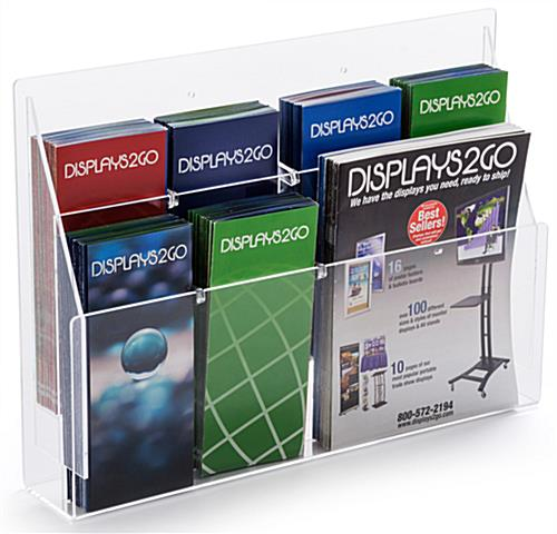 10' trade show booth kit with 8 pocket clear acrylic brochure holder