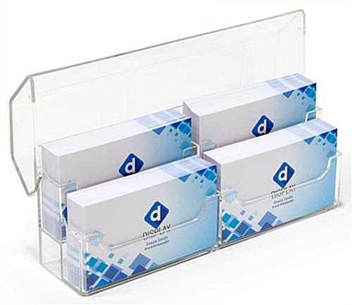 10' trade show booth kit with 2 tier clear acrylic business card holder