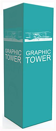 Portable custom graphic covered pop up tower included with custom trade show display