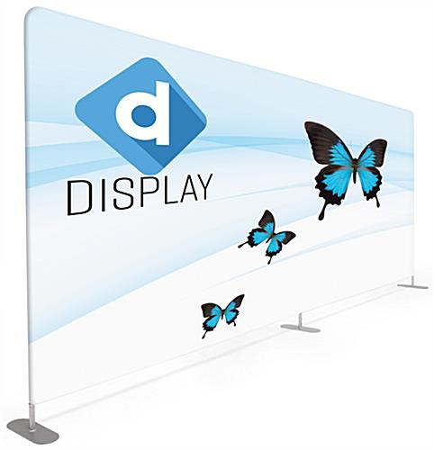 20' trade show package with large format custom printed backwall graphic
