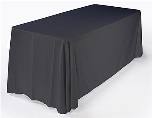 Black table cover for 6ft table with 20' trade show package