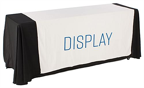 "20' trade show package with 60"" wide runner white with 1 color print"
