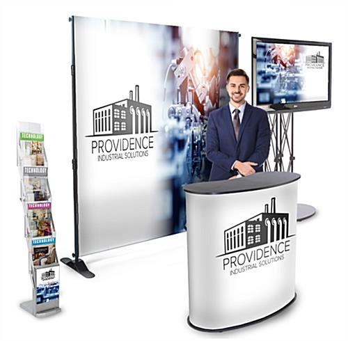 4 Piece step & repeat banner trade show package