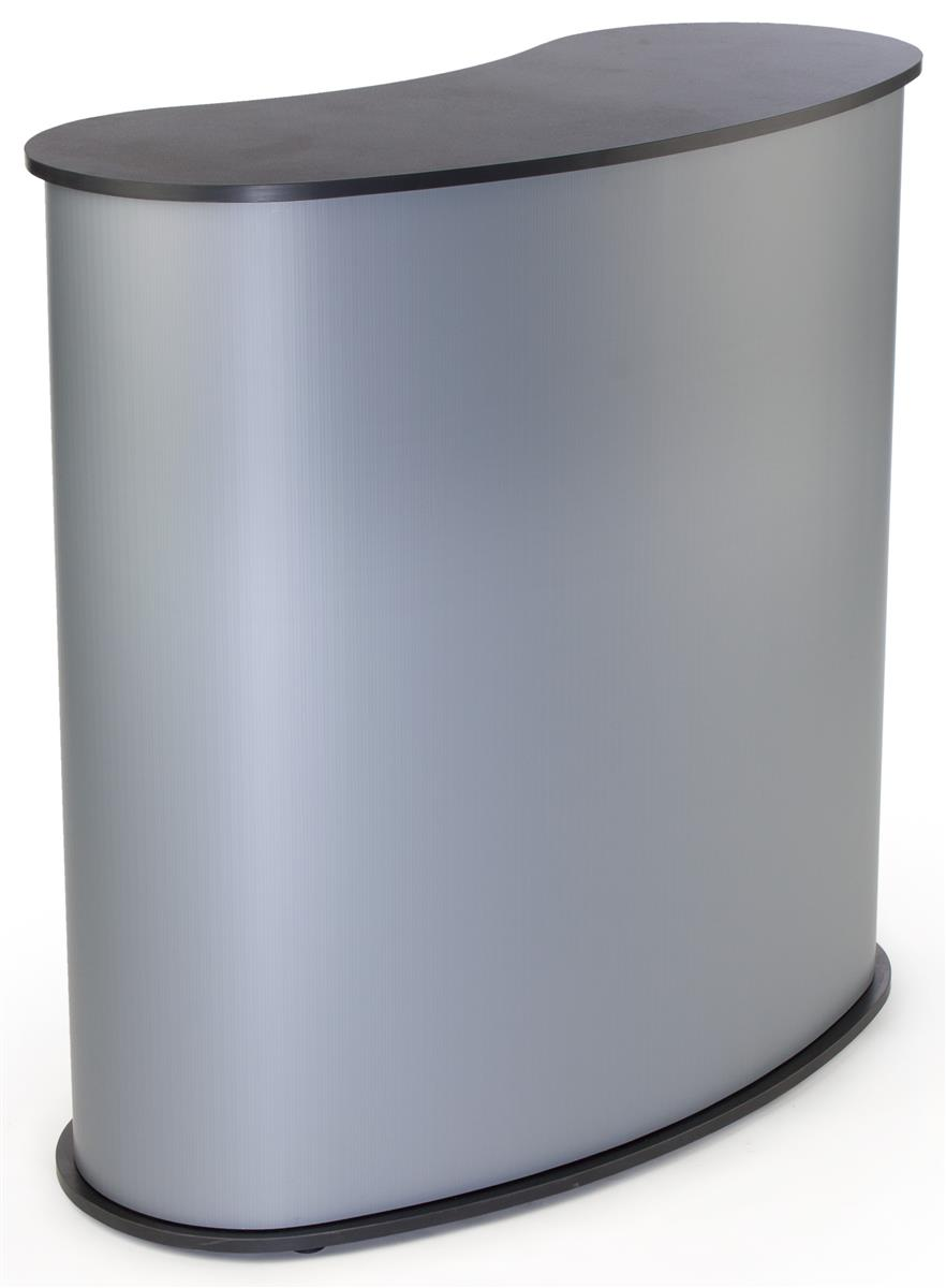 Portable Expo Counter Silver W Inner Shelf 41 Quot Tall