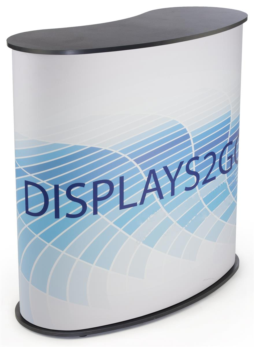Curved Exhibit Counter Custom Graphic Wrap Included