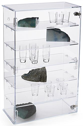 Five Shelf Acrylic Counter Showcase
