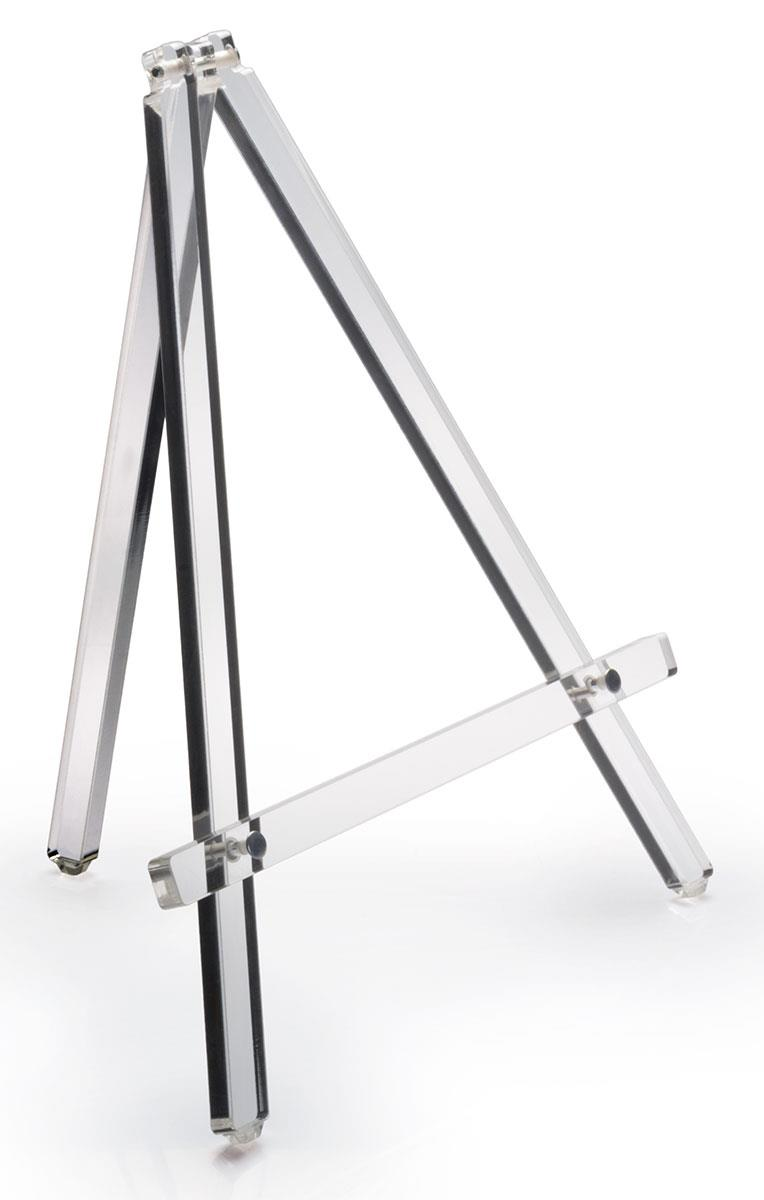 Clear tabletop easel acrylic construction for durable stands for 11x14 table top frame