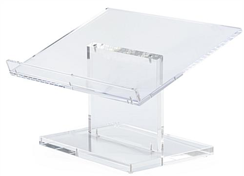 Clear Tabletop Lectern Includes Tools for Easy Assembly
