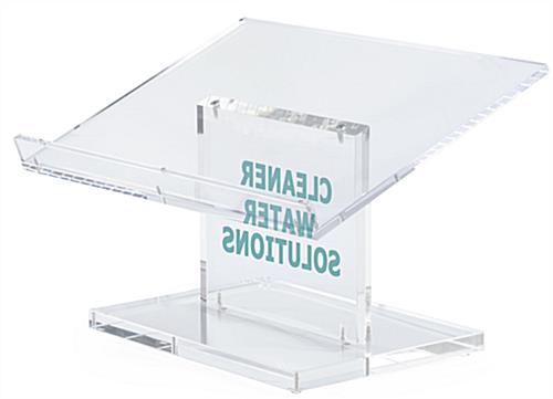 Custom Acrylic Desktop Podium has a Large Reading Surface