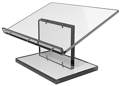 Clear Tabletop Lectern Knockdown Easy Assembly