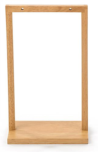 Wooden double post menu holder frame