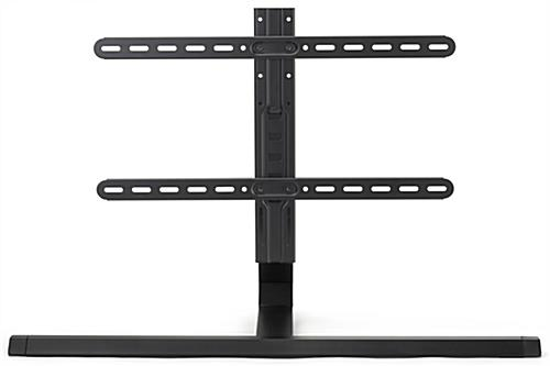 35.6 inch x 13.5 inch adjustable table top tv stand with a black finish