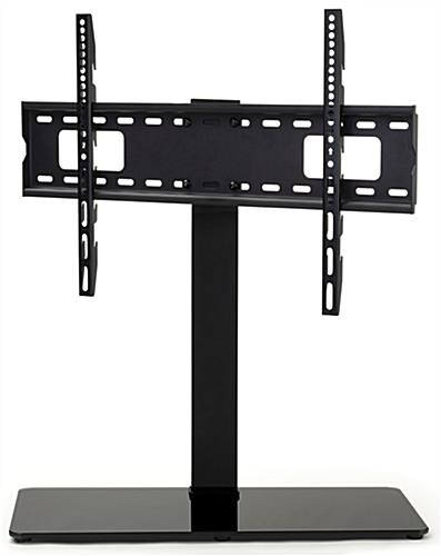 26 inch x 11 inch universal tabletop tv stand with 70 degree swivel range