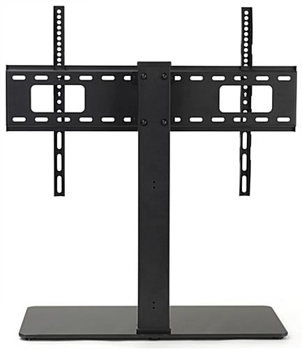 26 inch x 11 inch universal tabletop tv stand fits both curved and flat monitors