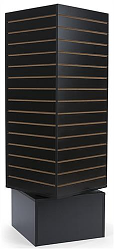 Black Revolving Slatwall Display Tower