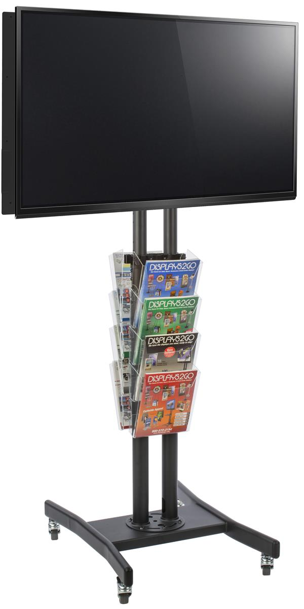 Double Sided Displays2go Outdoor Springer Display Silver Finish Aluminum Construction SS15A2436