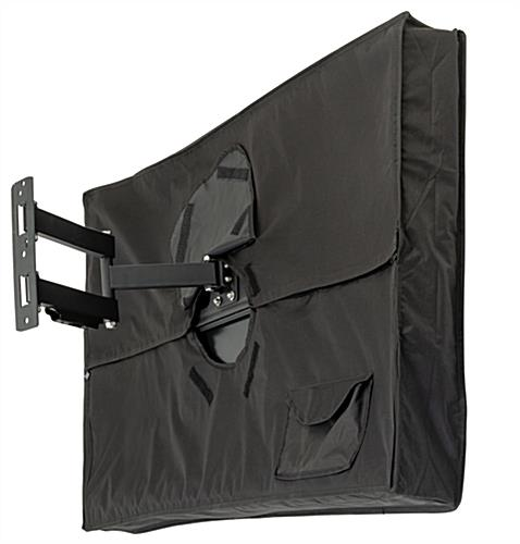 "Weatherproof TV cover tightly fits 46"" monitors"