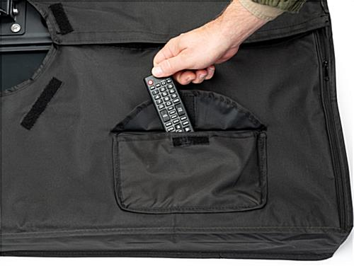 Weatherproof TV cover with accessory pocket