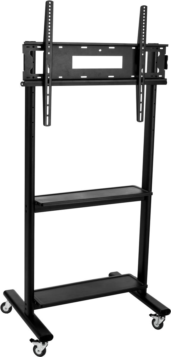 "Displays2go TV Stand with Wheels, Fits Monitors 32""-80"", ..."