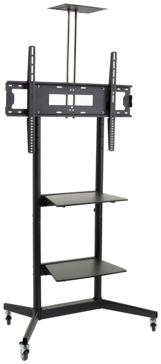 Displays2go TV Stand for Floor with Wheels, Fits Monitors...