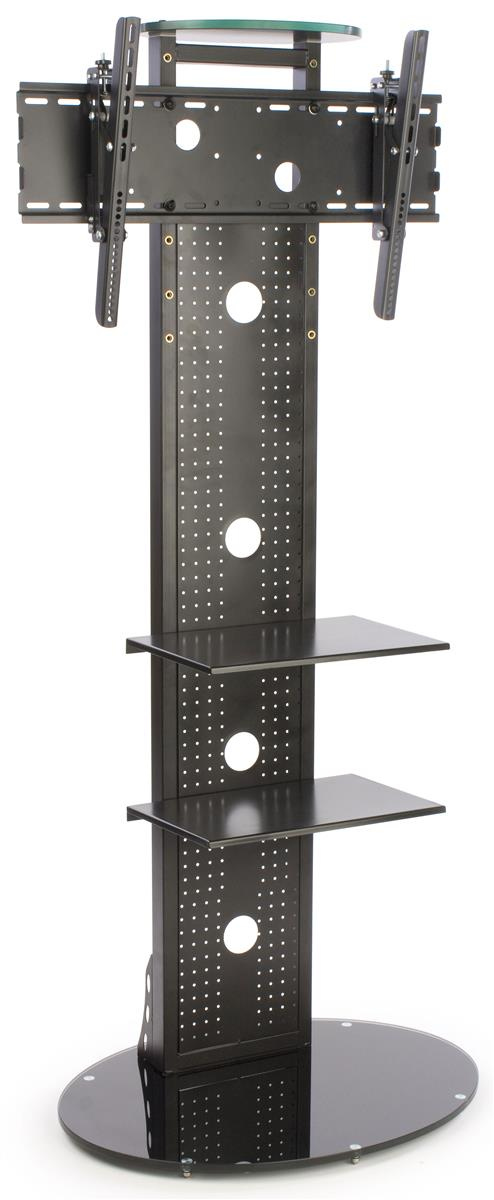Metal Tv Stand Monitor Rack With Glass Base