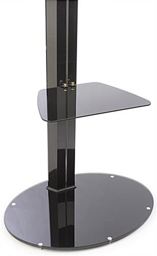 Flat Panel Stand with Glass Shelf