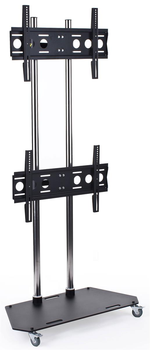 Displays2go TV Stand with 2 Adjustable Mounts for Monitor...