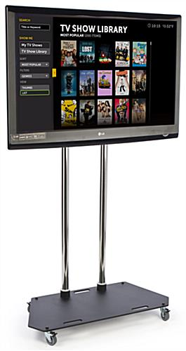 6 Tall Mobile Tv Stand Locking Casters 37 Quot 60 Quot Screens