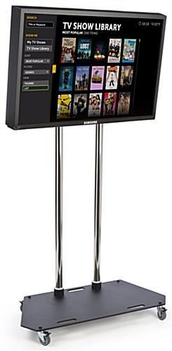 "Mobile TV Stand With Locking Wheels For 42"" - 55"" Television"