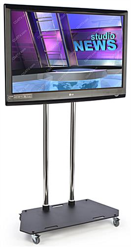 "Mobile TV Stand With Locking Wheels For 37"" - 65"" Monitor"