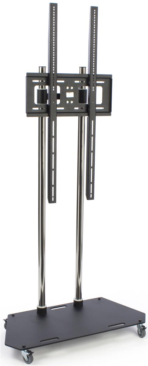 6 39 tall heavy duty tv stand vertical mounting black chrome. Black Bedroom Furniture Sets. Home Design Ideas