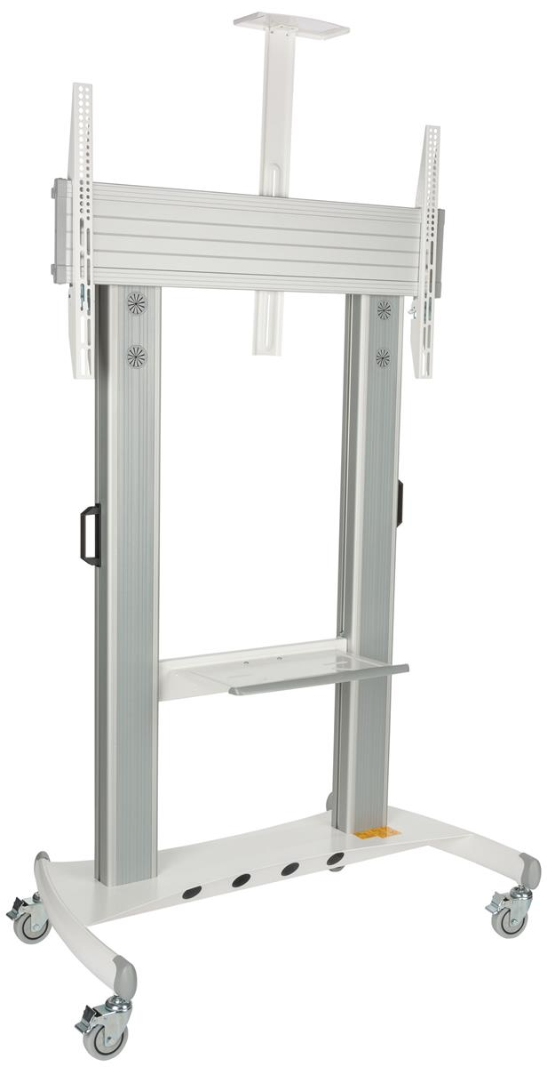 """Displays2go TV Stand w/ Wheels, Fits Monitors 60"""" to 100""""..."""