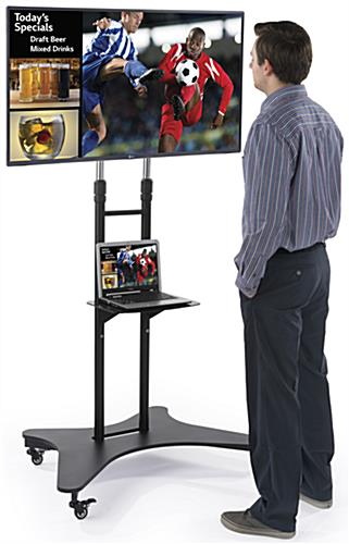 Rolling Mobile TV Console