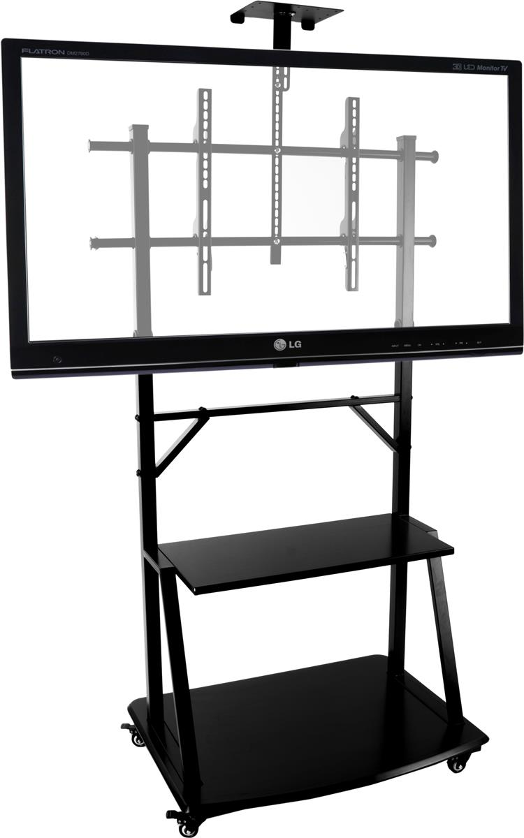 """Displays2go TV Stand with Shelf, Fits Monitors 37""""-71"""", W..."""
