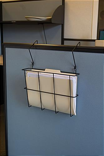 "Wall Hanging File Folders cubicle wall organizer | fits 8.5""w x 11"" file folders"