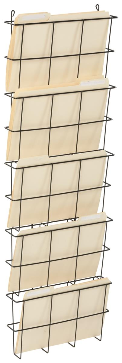 Wire Wall Pocket Organizer Mounts On Wall Or Cubicle