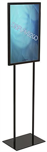 "14"" x 22"" Black Graphic Display Stand with Top Insert"