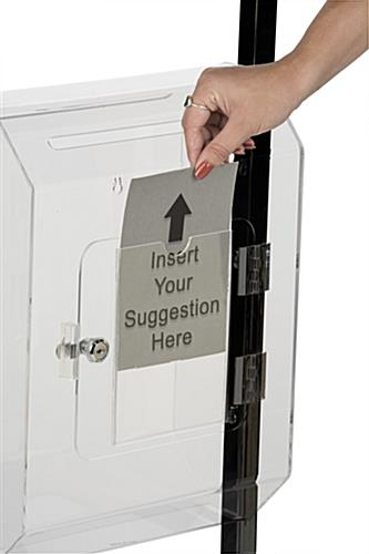 Sign Pocket Black Floor Standing Lead Box