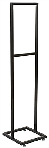 "14"" x 22"" Black Poster Stand with Solid Posts"