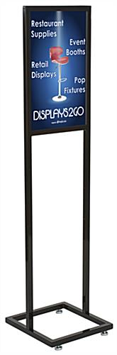 "14"" x 22"" Black Poster Stand with Glossy Powder Coated Finish"