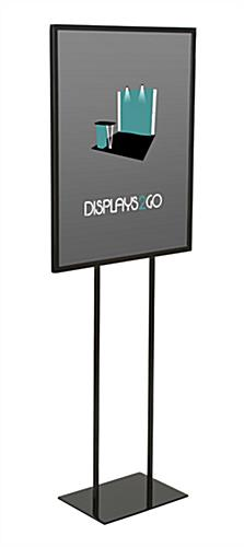 "Black 22"" x 28"" Steel Poster Stand With Square Base"
