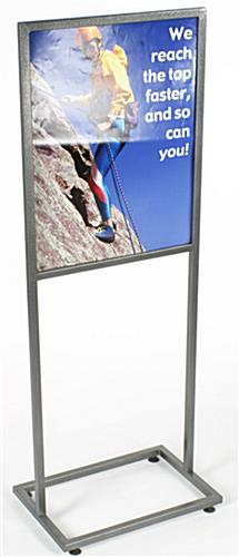 "Metal Sign Holder: 22""w x 28""h"