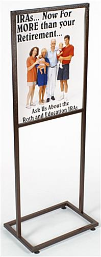 "Metal Sign Holders: 22""w x 28""h"