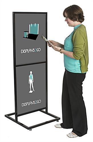 "Double-Sided and Double Tier 22"" x 28"" Poster Stand"