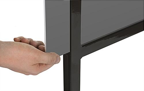"Double Tier 22"" x 28"" Poster Stand With Side Loading Frame"
