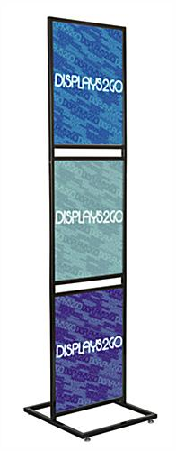 "Triple Tier 22"" x 28"" Graphic Stand For Floor Display"